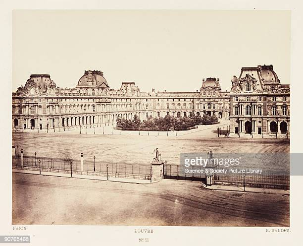A photograph of the Louvre Paris taken by EdouardDenis Baldus in about 1865 Previously a palace but established as a public museum in 1793 by the...