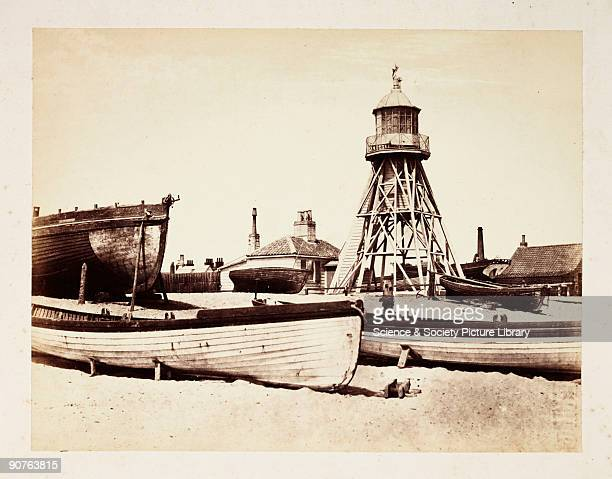 A photograph of the lower lighthouse on the sands at Lowestoft by Samuel Smith The low lighthouse worked in tandem with the high lighthouse situated...
