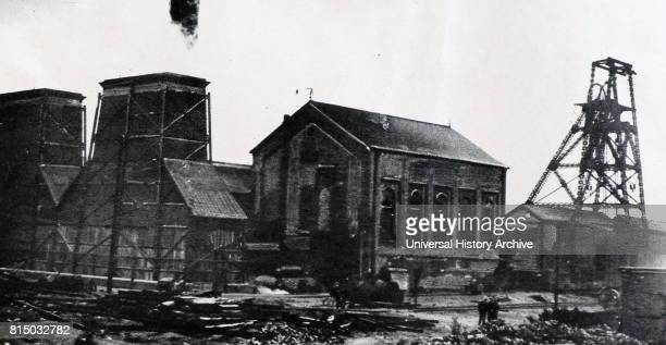 Photograph of the Maltby Main Colliery after an explosion that killed 27 people. Dated 20th Century.