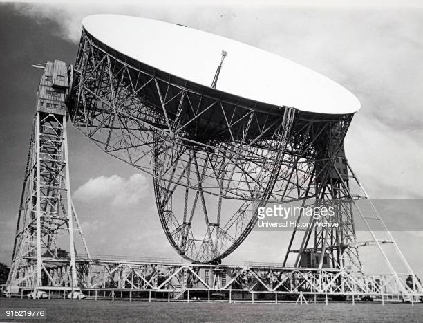 Photograph of the Mark II radio telescope at Jodrell Bank University of Manchester Dated 20th century