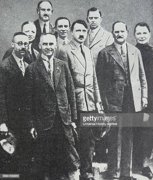 Photograph of the Nazi leaders before they came into power First row left to right Himmler Chief of the Gestapo Frick Minister of the Interior...