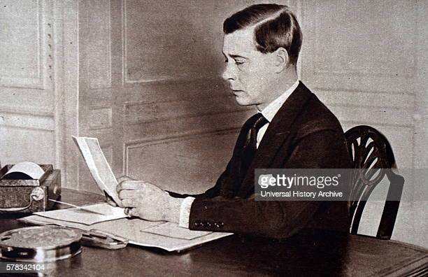 Photograph of the newly ascended King Edward VIII he abdicated in December of the same year. Dated 20th Century.