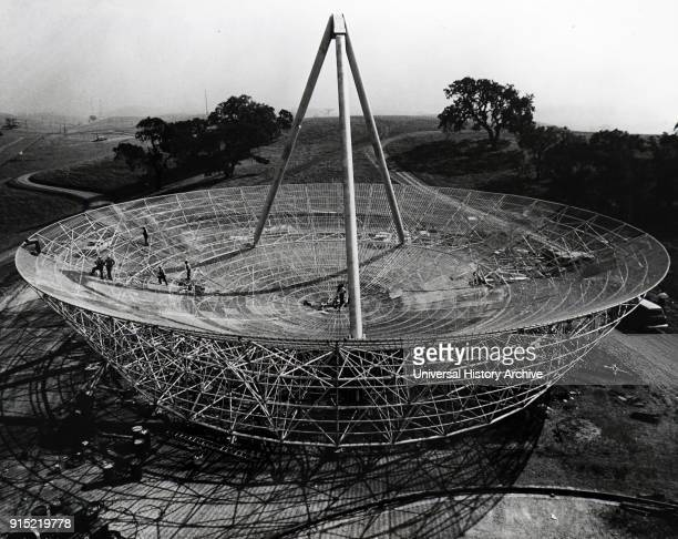 Photograph of the Radio Telescope Antenna erected at Stanford University Dated 20th century
