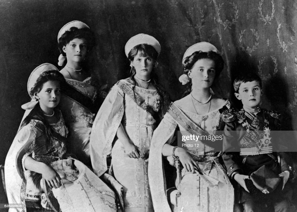 Photograph of the Romanov Children from the Russian Royal family. : News Photo