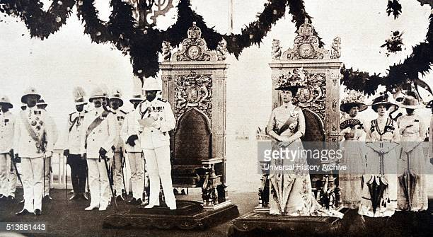 Photograph of the Royal visit to India by King George V and Queen Mary of Teck Dated 1911