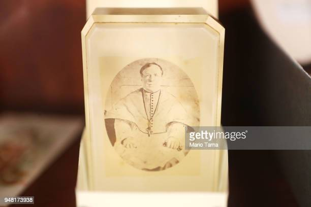 A photograph of the Second Archbishop of New Orleans is displayed in the Old Ursuline Convent the oldest structure in New Orleans in the historic...