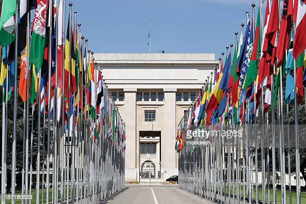 photograph of the untied nations in geneva - the hague stock pictures, royalty-free photos & images