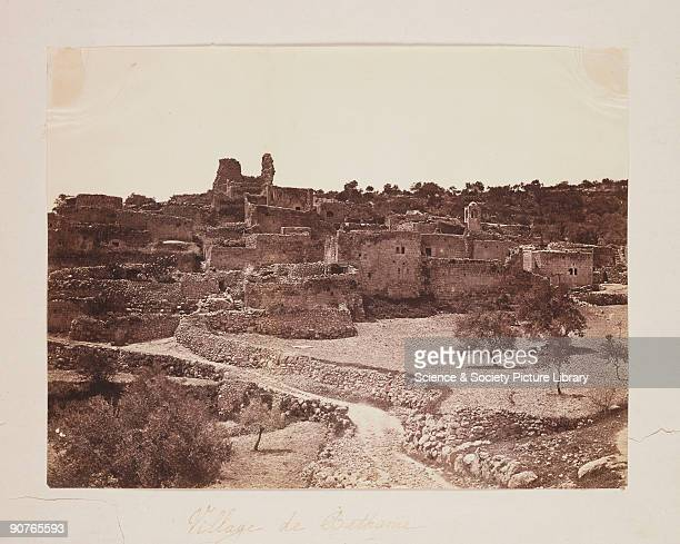 Photograph of the vilage of Bethany, Israel, taken by Robertson, Beato and Co. The village of Bethany is about two miles from Jerusalem, on the...