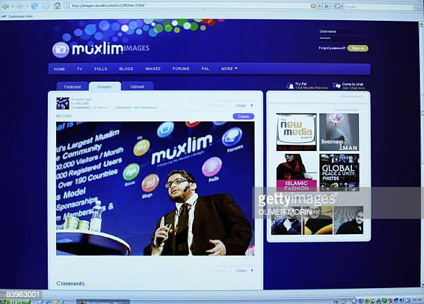 A photograph of the website homepage of PalMuxlimcom on December 9 in Stockholm shows the chief executive Muxlim chief executive Mohamed ElFatatry 23...