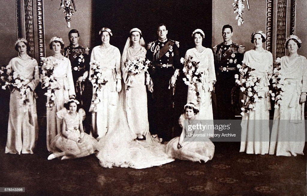 The wedding of Prince George, Duke of Kent and Princess Marina of ...