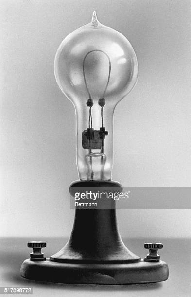 Photograph of Thomas Edison's electric lamp patented January 27 1880 Undated