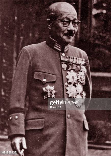 Photograph of Tojo Hideki general of the Imperial Japanese Army the leader of the Imperial Rule Assistance Association and the 40th Prime Minister of...