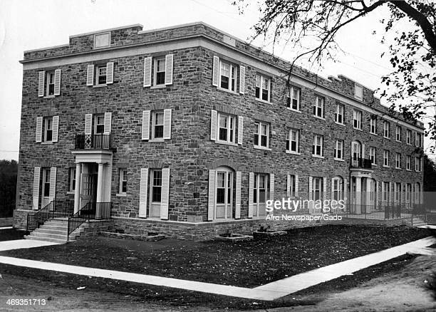 A photograph of Tubman House a women's dormitory named after Harriet Tubman at Morgan State College Baltimore Maryland November 15 1941