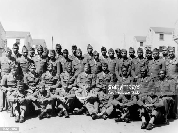 Photograph of Tuskegee airmen during World War II Tuskegee Alabama 1944