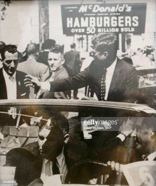 A photograph of US President John F Kennedy at a McDonalds restaurant hangs on a wall at the world's oldestoperating McDonald's fast food restaurant...