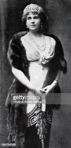 Photograph of Victoria Eugenie of Battenberg Queen of Spain as the wife of King Alfronso XIII Dated 20th century