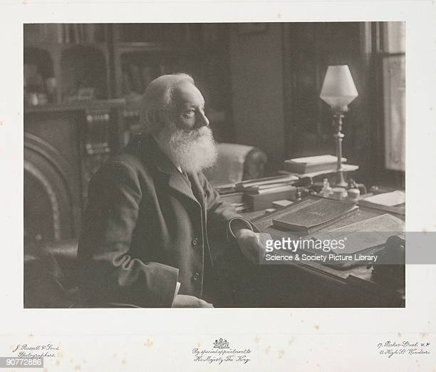 Photograph of William Henry Perkin seated in his study in Sudbury Derbyshire From a collection of 19 photographs relating to Sir William Henry Perkin...