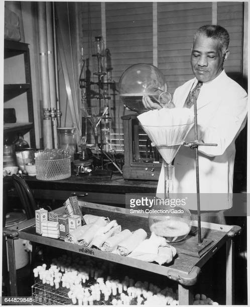 Photograph of William R Carter a government pharmacist working in an Food and Drug Administration laboratory 1941 Image courtesy Roger Smith/US...