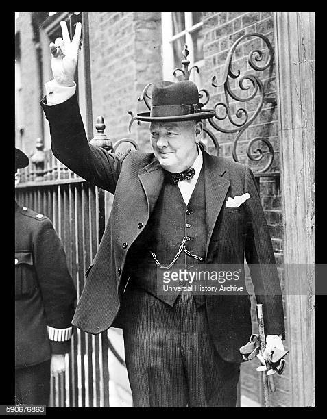 Photograph of Winston Churchill British politician who was the Prime Minister of the United Kingdom Dated 1943