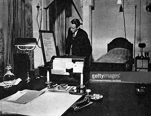 Photograph of Winton Churchill's combined office and bedroom during the Second World War. Dated 20th Century