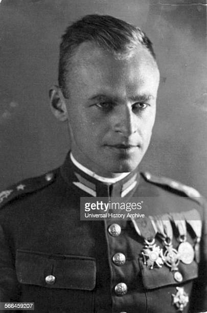 Photograph of Witold Pilecki a Polish soldier during the Second Polish Republic and founder of the Secret Polish Army resistance group in...