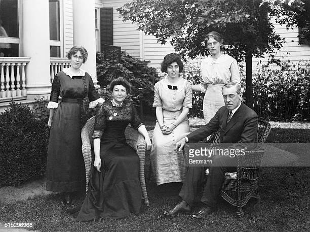Photograph of Woodrow Wilson and his family during the President's first term Undated photograph