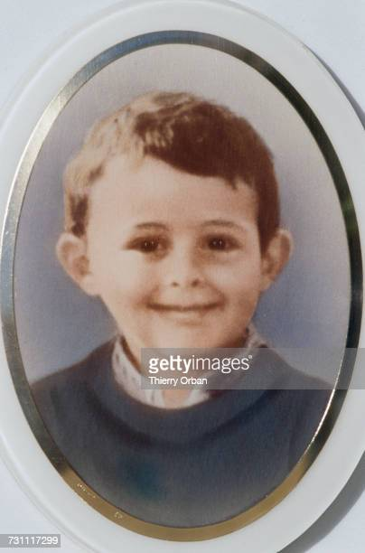 Photograph on the grave of four year-old Grégory Villemin , 16th October 1989. The boy was murdered four years previously near Docelles in the French...
