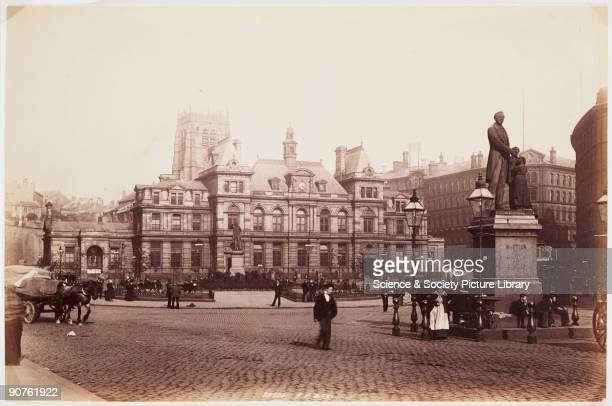 A photograph published by Frith and Co In the foreground is a statue of the Yorkshire humanitarian Richard Oastler Oastler campaigned for an end to...