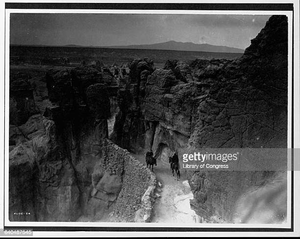 A photograph published in Volume XVI of The North American Indian by Edward S Curtis   Location Acoma New Mexico USA
