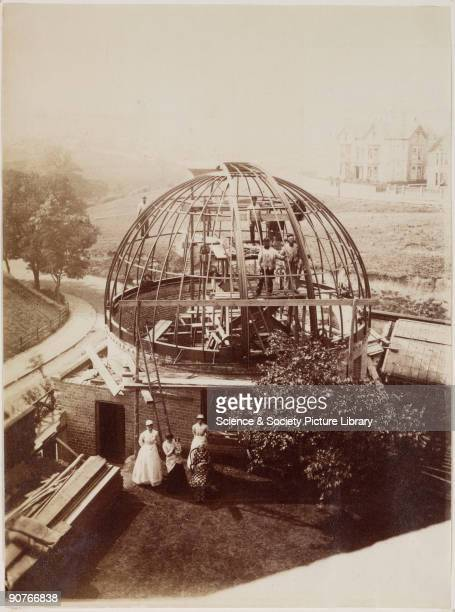 A photograph showing an observatory under construction near Scarborough in North Yorkshire The observatory was built for James Wigglesworth a...