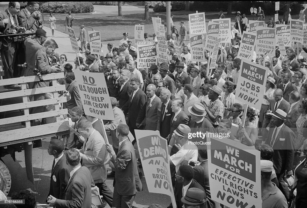 March On Washington-Martin Luther King Jr : News Photo