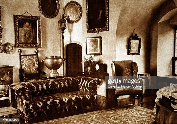 Photograph showing part of the drawingroom at Glamis Castle the home of the Lyon family since the 14th century Dated 20th Century