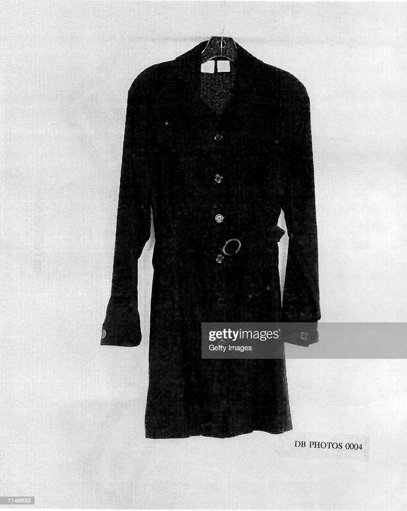 Dress worn by Monica Lewinsky : News Photo