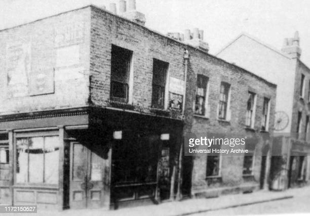 "Photograph showing the entrance to Dutfield's Yard where Elizabeth Stride was supposedly murder by Jack the Ripper. Elizabeth ""Long Liz"" Stride was a..."