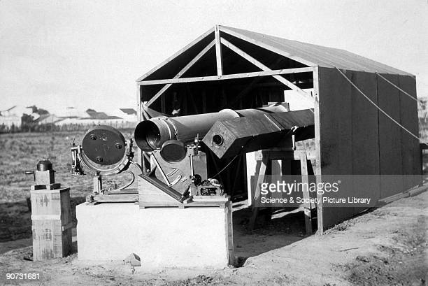 Photograph showing the instruments used by the British expedition sent to observe total solar eclipse on 29 May 1919 from Sobral in Brazil Sir Arthur...