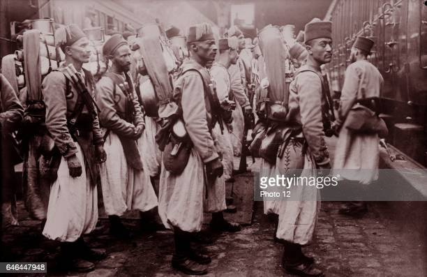 Photograph shows Algerian soldiers in Europe during World War I