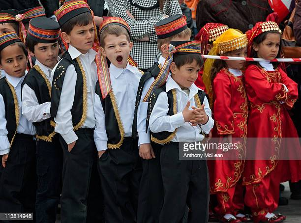 Photograph taken at the Children's Day Parade in the town of Göreme, Cappadocia, Turkey.