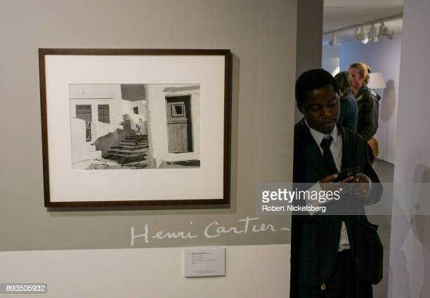 A photograph taken by Henri CartierBresson 19082004 is on display for auction December 10 2017 at Phillips in New York City The photograph taken in...