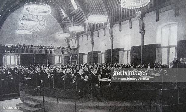 Photograph taken during the Hague Convention of 1907