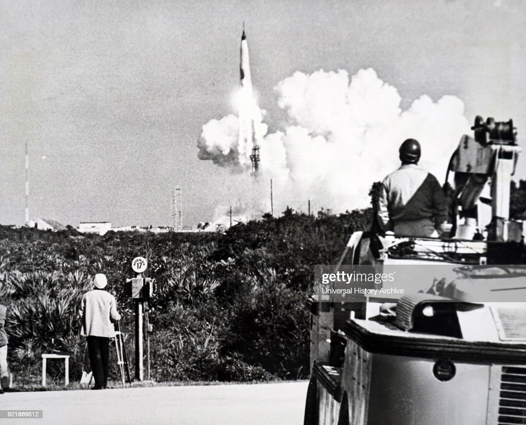 Photograph taken during the launch of Mercury-Atlas 8. Dated 20th century.