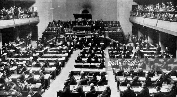 Photograph taken during the Second Assembly of League of Nations at Geneva Dated 20th Century