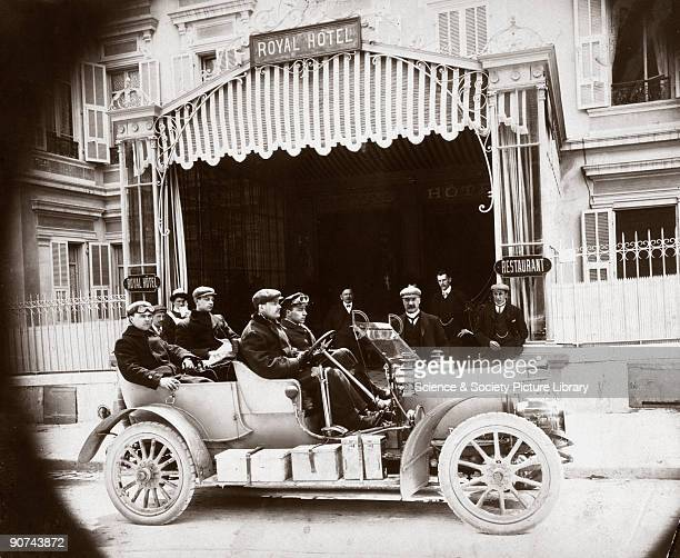 Photograph taken from an album of images collected by English motorist, motor car manufacturer and aviator, Charles Stewart Rolls . Rolls founded...