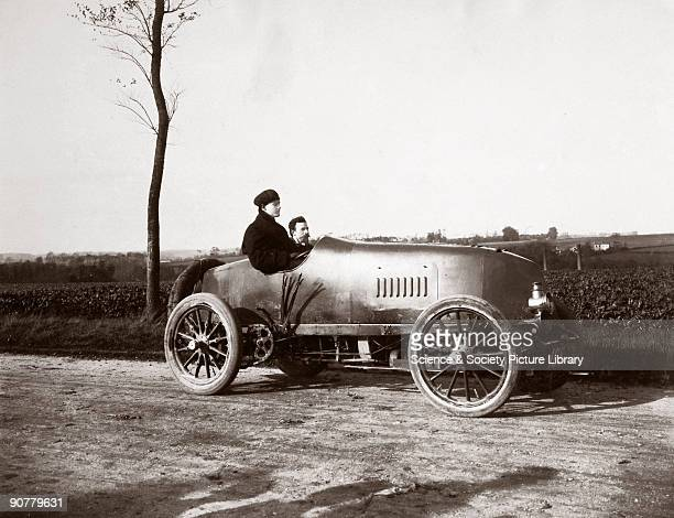 Photograph taken from an album of images compiled by Charles Stewart Rolls , English motorist, motor car manufacturer and aviator. Frenchman Emile...
