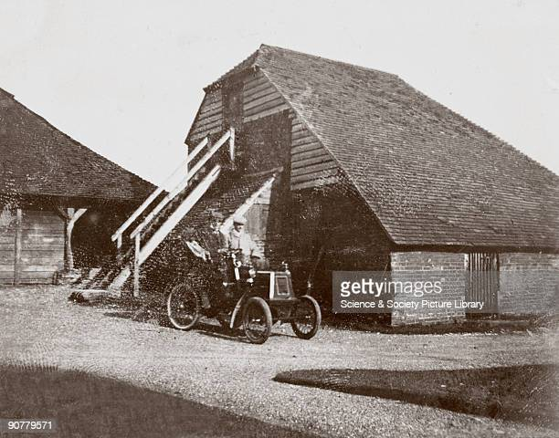 Photograph taken from an album of images compiled by English motorist, motor car manufacturer and aviator Charles Stewart Rolls . Rolls founded...