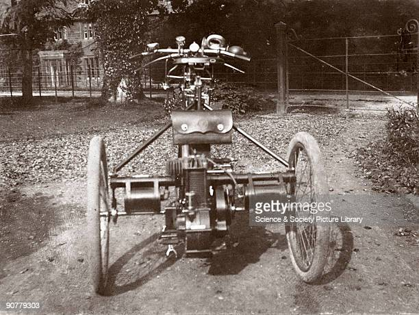 Photograph taken from an album of prints collected by English motorist, motor car manufacturer and aviator Charles Stewart Rolls . Rolls founded...