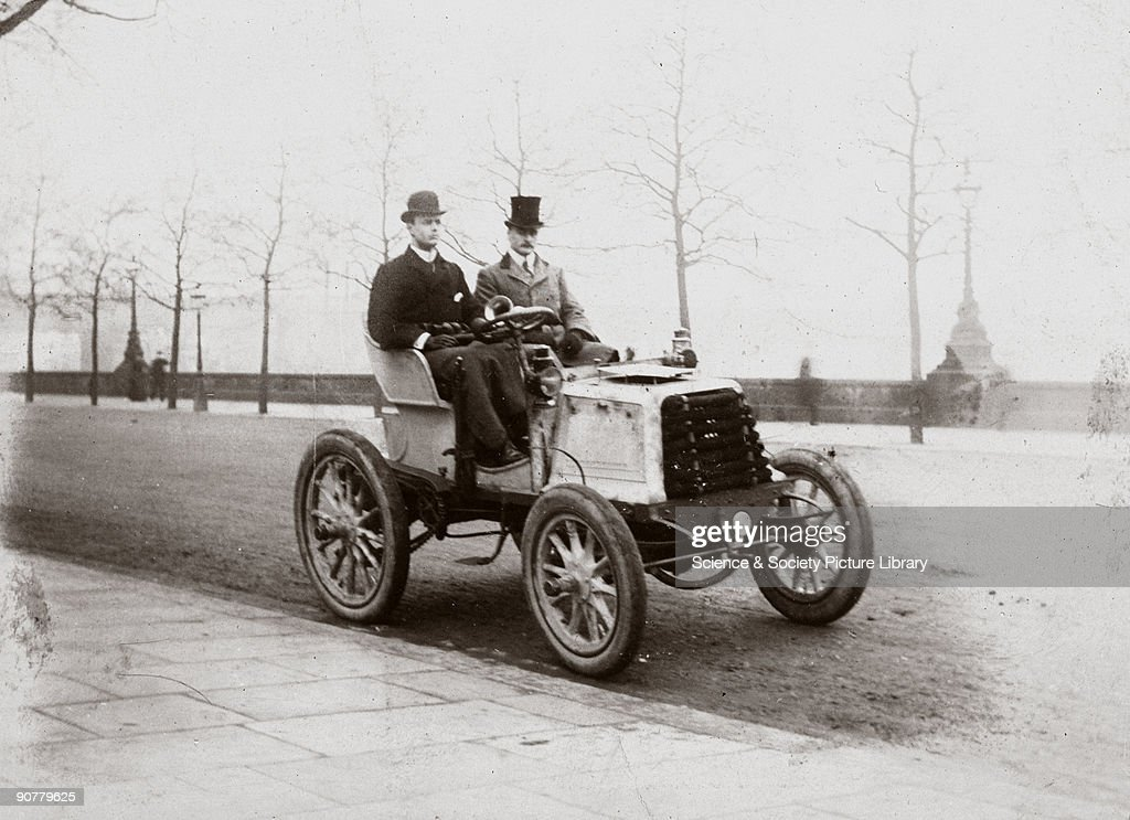 C S Rolls and Mr Ashby driving from Southampton to London, 1900 ...