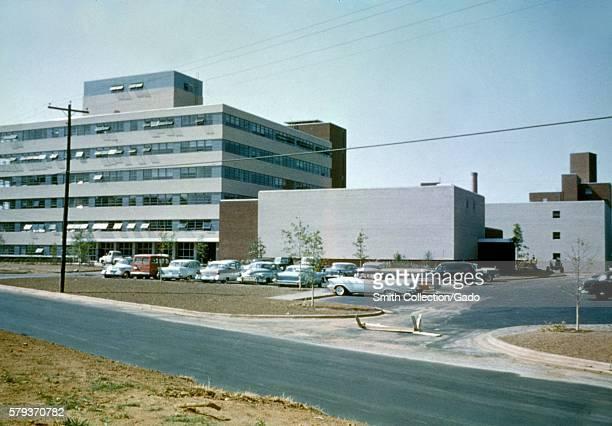 A photograph taken in the 1960s of the facade of CDC Building 1 Clifton Road Atlanta Georgia 1960s photo of CDC building on Clifton Road Atlanta...