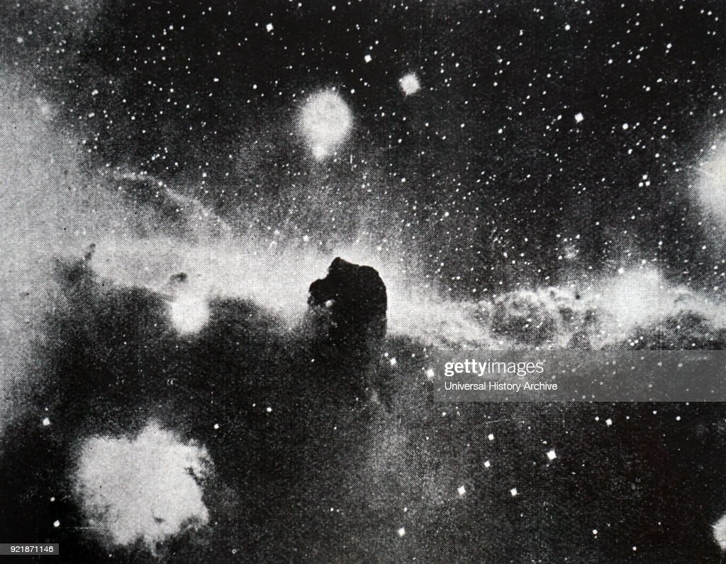 Photograph taken of a North American nebula in the constellation of Cygnus. Dated 20th century.