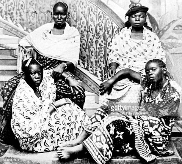 Photograph taken of prostitutes in Zanzibar Dated 19th Century