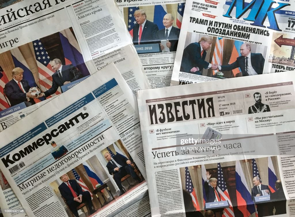 RUSSIA-US-NEWSPAPERS : News Photo